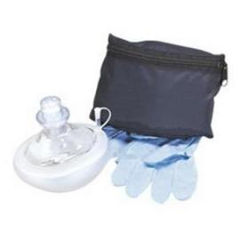 Microtek Medical CPR Micromask Clear, Replaceable Valve, Blue Pouch, Zippered - Each - Total Diabetes Supply