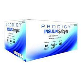 "Prodigy Insulin Syringe 31G .5cc 5/16"" - Box of 100 - Total Diabetes Supply"