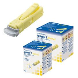 Owen Mumford Unistik 3 Normal Lancets 23G Lancing Device w/50 Lancets - Total Diabetes Supply