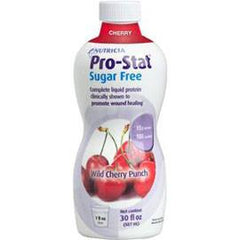 Medical Nutrition USA Pro-Stat Sugar Free 64 Ready-to-Use Liquid Protein Supplement - Wild Cherry Punch - 30oz Bottle - Total Diabetes Supply