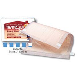 "Tranquility Peach Sheet Underpad 21-1/2"" x 32-1/2"" 34 oz, Latex Free - One pkg of 12 each - Total Diabetes Supply"
