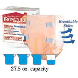 "Tranquility SlimLine Breathable Brief, 23-2/3 oz Fluid Capacity, Latex-Free, XL (56"" to 64"" Waist/Hip) - One pkg of 12 each - Total Diabetes Supply"