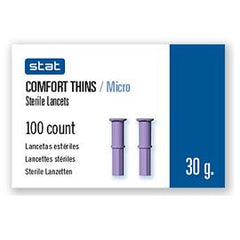 Stat Comfort Thins / Micro Sterile Lancets 30G - 100 ct.