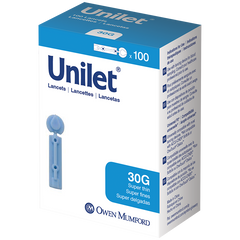 Unilet 30G Super Thin Lancets - 100 ct.