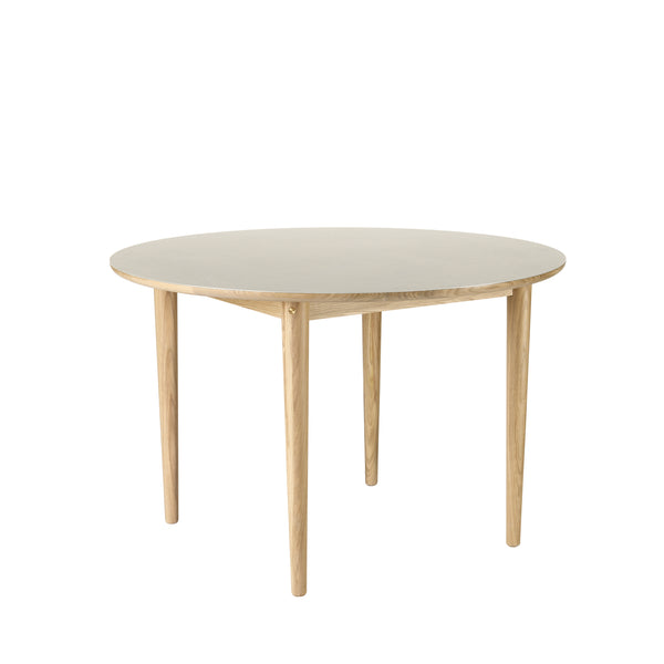 FDB Møbler C62 Round Dining Table Ø115 with Linoleum by Unit 10 Design