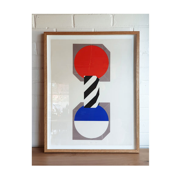 Kumi Sugai Limited Edition (44/100) Geometric Blue Red Black