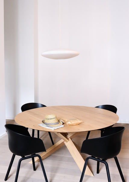 Ethnicraft Circle Dining Table - Open Room