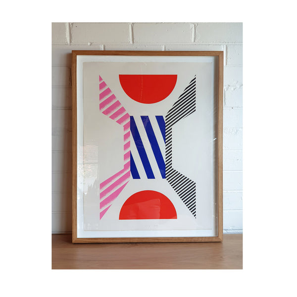 Kumi Sugai Limited Edition (86/100) Geometric Blue Red Pink