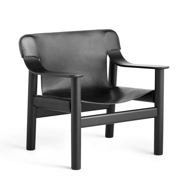 HAY Bernard Chair Black Leather Open Room