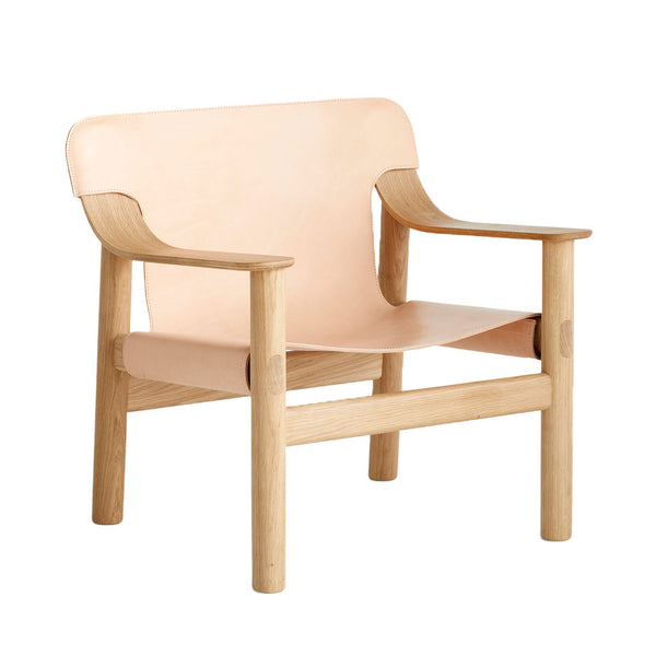 HAY Bernard Chair Natural Leather Open Room
