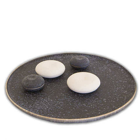 Crystal Matte Black Food Disc by Christopher Plumridge