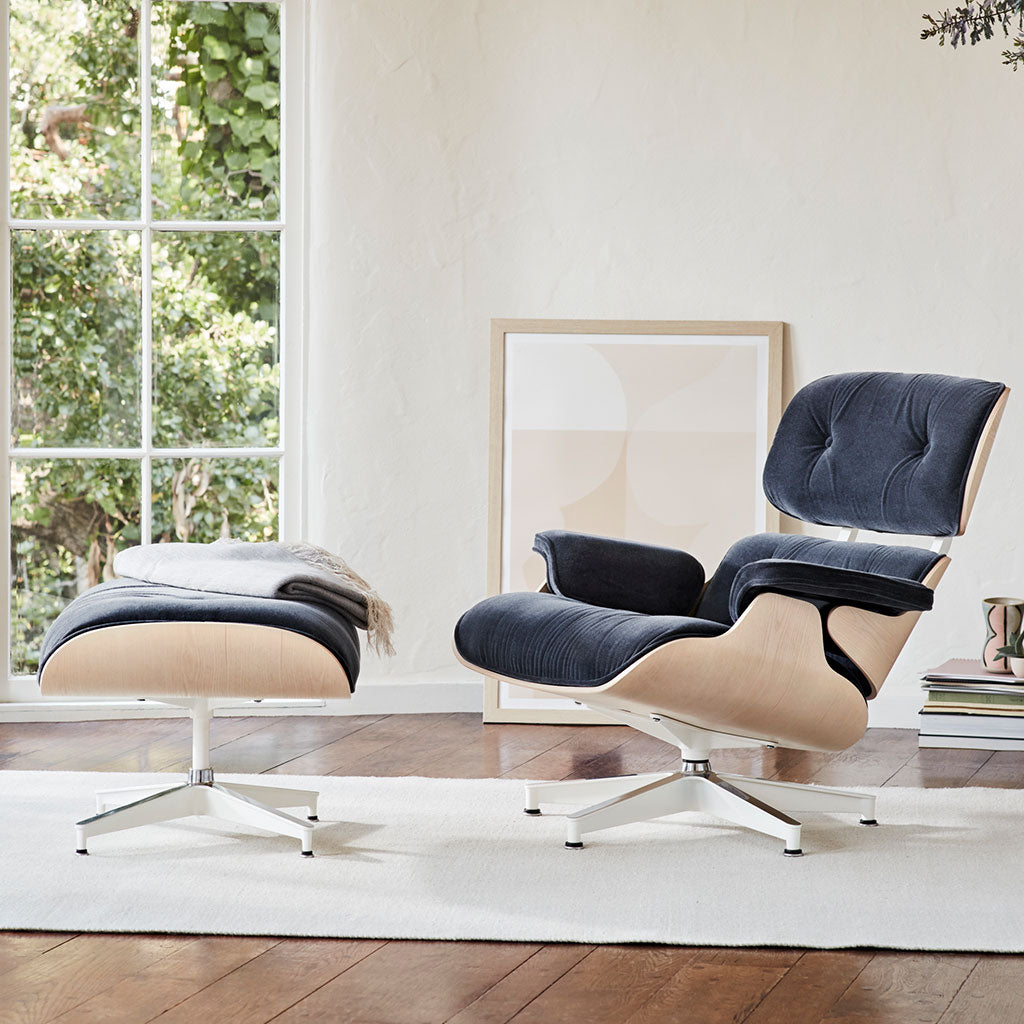 Eames Lounge Chair Living Room eames® tall lounge chair and ottoman – open room