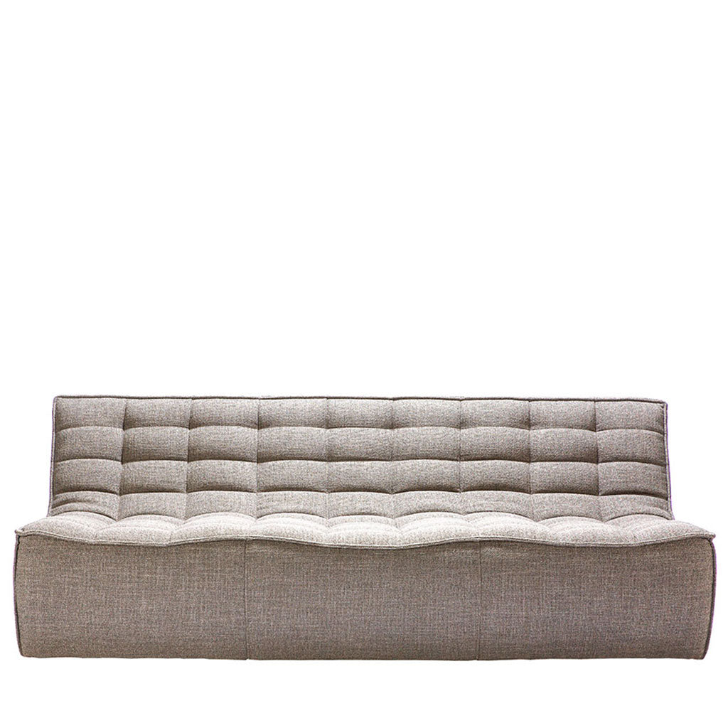 Ethnicraft N701 Sofa 3 Seater - Dark Beige Open Room