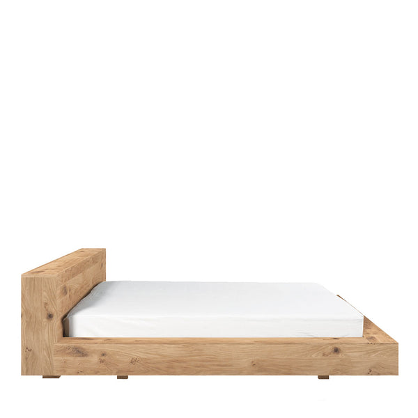 Ethnicraft Oak Madra Bed Open Room Side Image