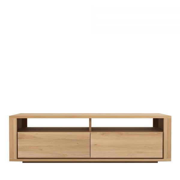 Ethnicraft Shadow_TV Unit 2 Drawer Open Room