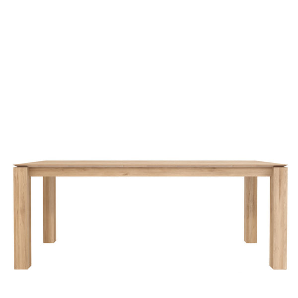 Ethnicraft Oak Slice Dining Table Open Room