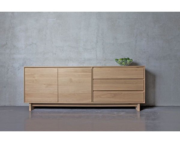 Ethnicraft Oak Wave Sideboard - Open Room