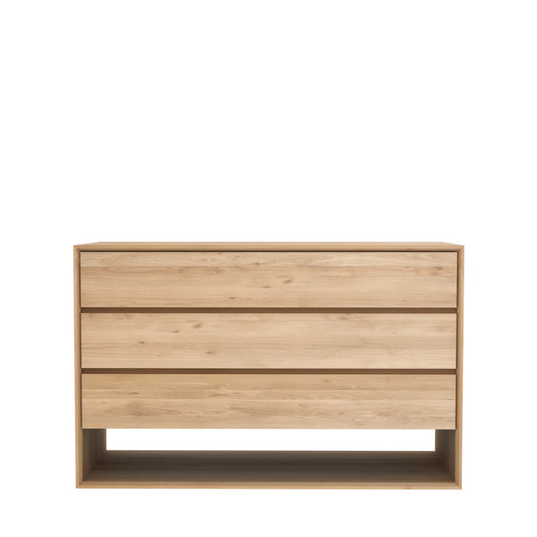 Ethnicraft Nordic Oak Chest of Drawers - Open Room