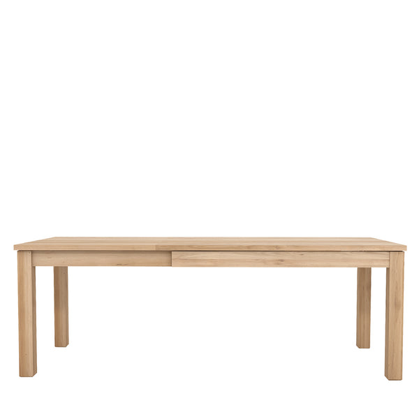 Ethnicraft Oak Straight Extendable Dining Table