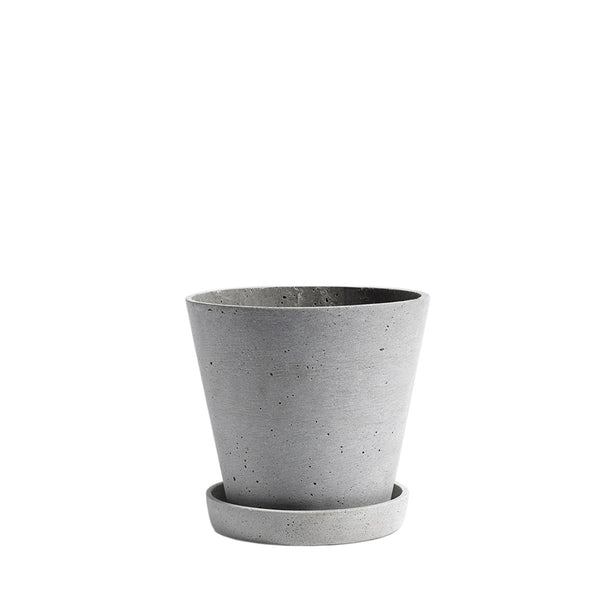 HAY Flowerpot with Saucer - Grey