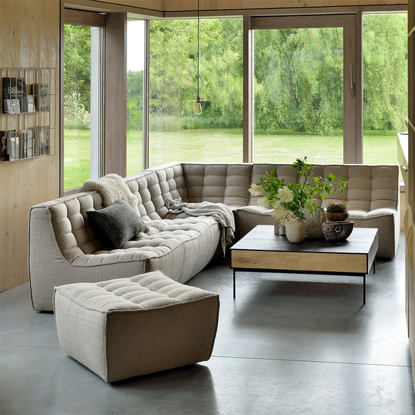 Ethnicraft N701 Sofa 3 Seater - Dark Beige