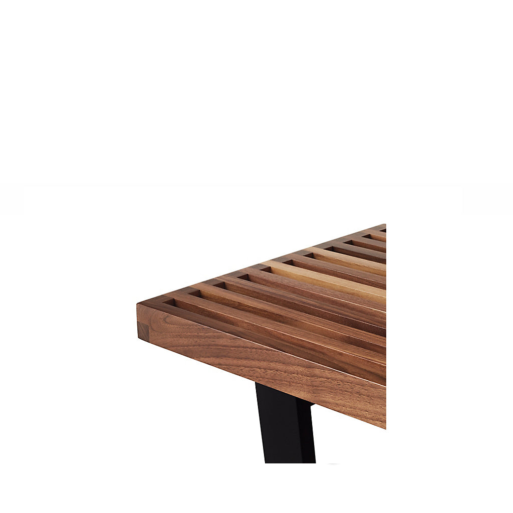 Super Nelson Platform Bench With Black Base Large Gmtry Best Dining Table And Chair Ideas Images Gmtryco