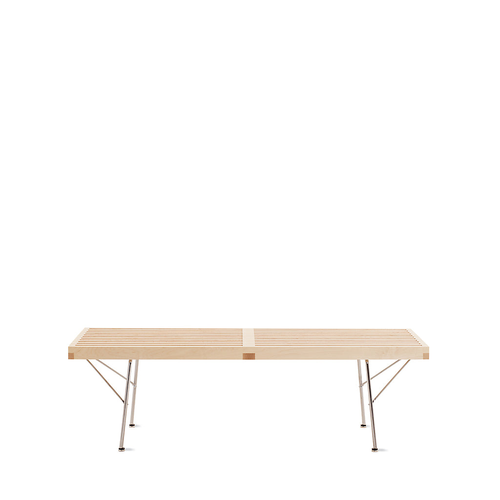 Nelson™ Platform Bench with Chrome Legs - Small - Open Room