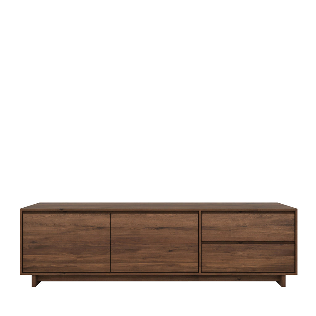 Ethnicraft Walnut Wave TV cupboard - 2 opening doors