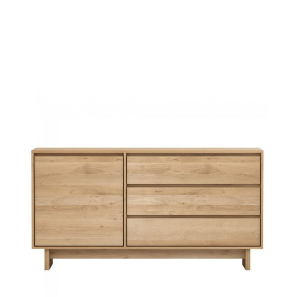 Ethnicraft solid oak Wave Sideboard Open Room