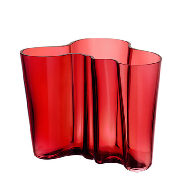 Vase Cranberry 160mm By Alvar Aalto