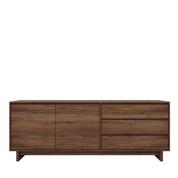 Ethnicraft Walnut Wave sideboard - 2 opening doors - 3 drawers