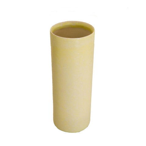 Yellow Cylinder Vase By Christopher Plumridge