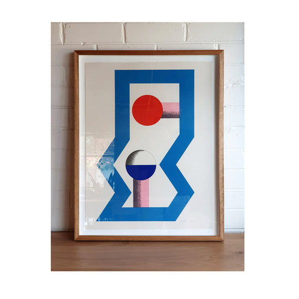 Kumi Sugai Limited Edition (48/100) Geometric Blue Red Pink 2