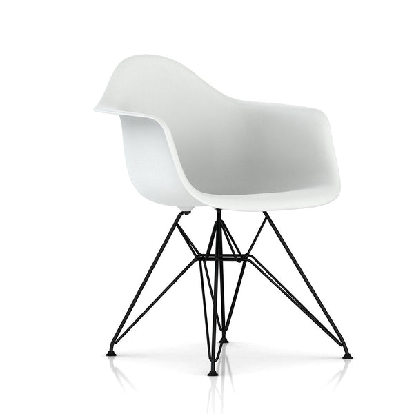 Eames® Moulded Plastic Wire-Base Armchair