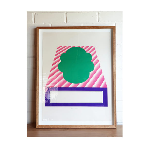 Kumi Sugai Limited Edition (44/100) Geometric Green Purple Pink