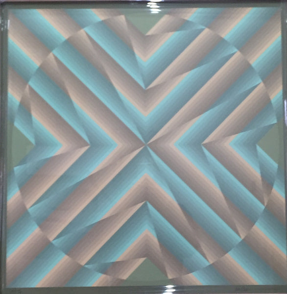 Tribute to Vasarely (no. unknown) by Jim Bird