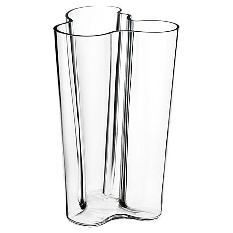 Vase Clear 251mm by Alvar Aalto