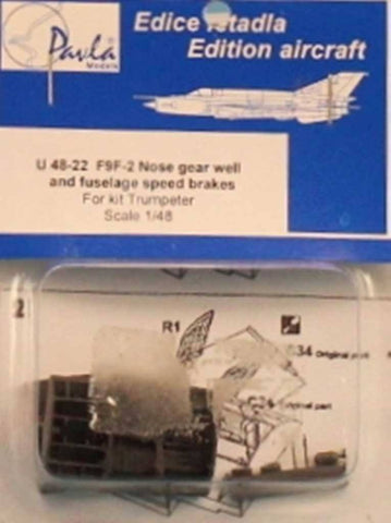 Pavla Models 1:48 F9F-2 Nose Gear Well Fuselage Speed Brakes Trumpeter #U48-22 N/A Pavla_Models