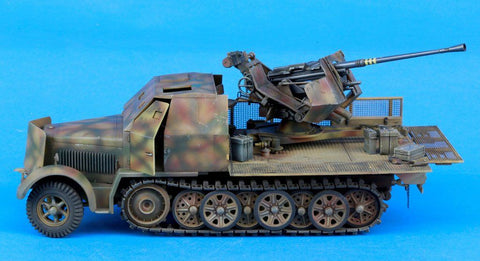 Verlinden Built 1:35 WWII German 8 Ton 3.7cm Flak37 Original Display #VPBFlak37 N/A Verlinden Productions
