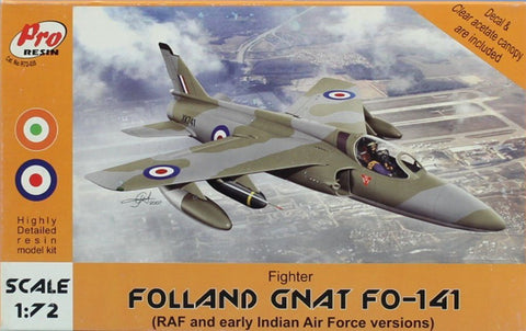 PRO Resin 1:72 Folland Gnat FO-141 Fighter Aircraft Model Kit #R72-039 N/A PRO_Resin