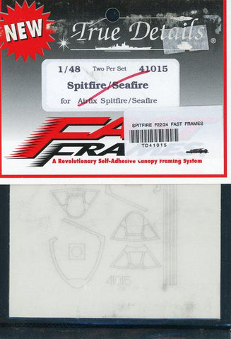 True Details 1:48 Fast Frames Mask Spitfire /Seafire for Airfix Kit #41015 N/A True_Details