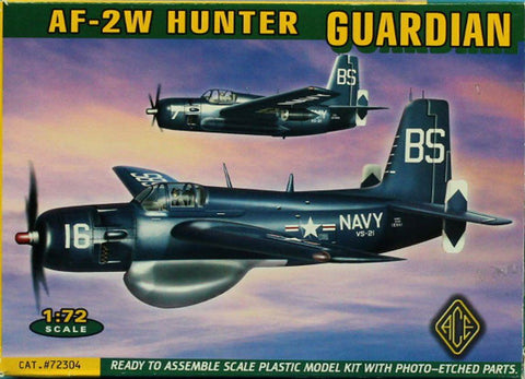 ACE 1:72 AF-2W Hunter Guardian Plastic Model Kit #72304 N/A ACE