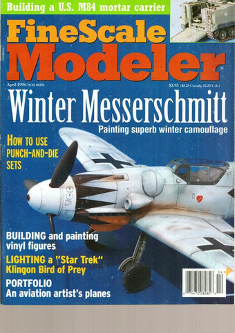 Fine Scale Modeler April 4.1998 Vol.16 No.4 Winter Messerschmitt Magazine U1 N/A Fine_Scale_Modeler