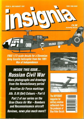 Insignia Issue 6 Vol.2 No.2 July/August 7/8.1997 Russian Civil War U N/A Insignia