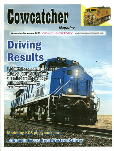 Cowcatcher Magazine November December 11/12.2016 Driving Results U1 N/A Cowcatcher_Magazine