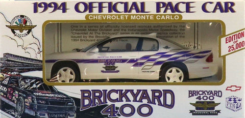 Brookfield 1:25 1994 Official Pace Car Brickyard 400 Chevrolet Monte Carlo #1994 N/A Brookfield