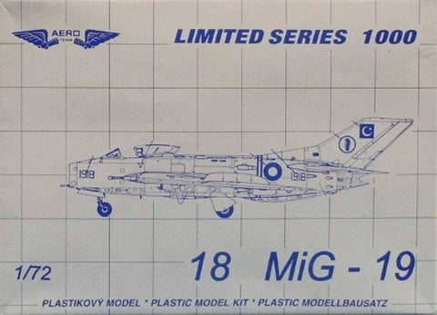 Aero Team 1:72 Mig-19 Limited Series 1000 Plastic Model Kit #KPA018U N/A Aero_Team