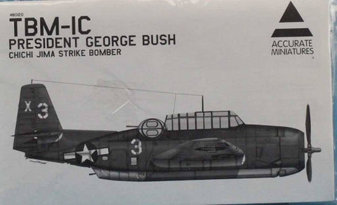 Accurate Miniatures 1:48 TBM-1C President George Bush Chichi Jima Kit #480120U N/A Accurate_Miniatures