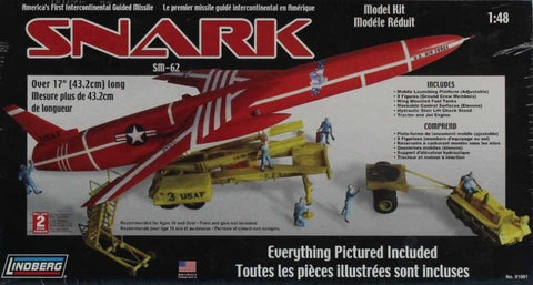Lindberg 1:48 Snark SM-62 America's Intercontinental Guided Missile Kit #91001 N/A Lindberg