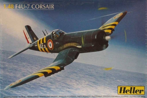 Heller 1:48 F4U-7 Corsair Plastic Aircraft Model Kit #80415U N/A Heller